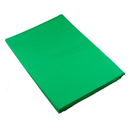 PhotoSEL Photography Backdrop, Chroma Key Green Screen, 6.6 x 10 ft, 100% Cotton Matte Finish Muslin Photo Background, BK11CG