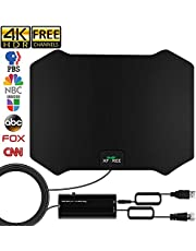 HDTV Antenna, 2020 Newest Indoor Amplified Digital TV Antenna 120 Miles Range Signal Booster for 4K Free Local Channels,16.5ft Coax Cable Support All TV's