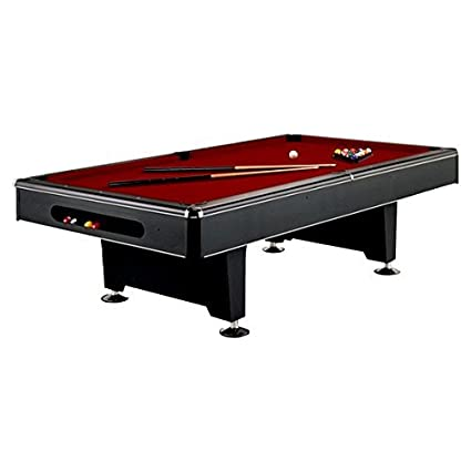 Imperial Eliminator Black Pool Table Modern Look   7 And 8 Foot   Free Felt  And
