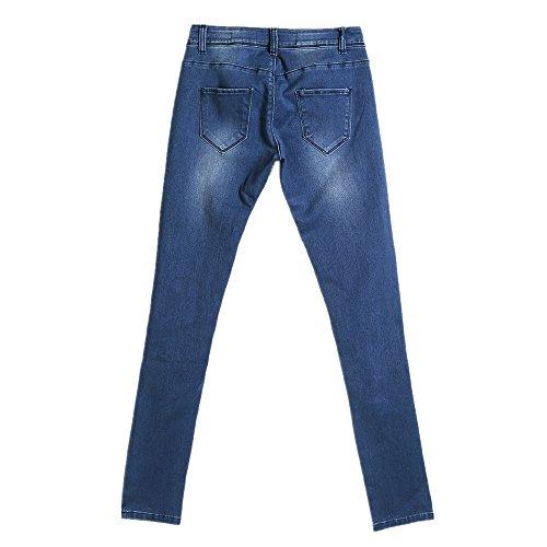 Size Blue Color Jeans sexy XL femmes pour taille haute Blue w4xAU