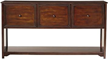 Oxford  Drawer File Cabinet  Drwr Console Chestnut
