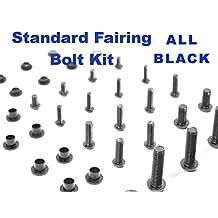 Black Standard Motorcycle Fairing Bolt Kit Suzuki GSX-R 600 / 750 2008 - 2009 Body Screws, Fasteners, and Hardware
