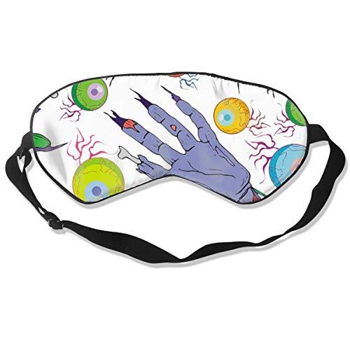 (NCNET 100% Silk Sleep Mask for Women Men,Night Blindfold,Light Blocking,Eye Shade,Sleeping Aid,Adjustable Strap for Travel Nap Shift Work,Terrible)