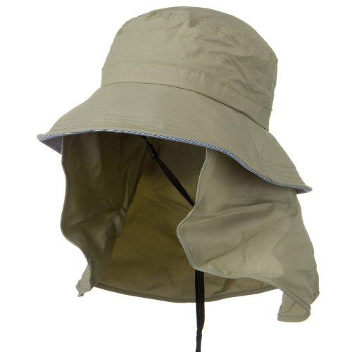 Juniper UV 50+ Talson Removable Flap UV Bucket Hat - Khaki