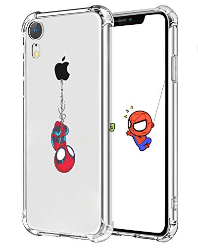 Creative Clear Case - Logee TPU Spider Funny Cute Cartoon Clear Case for iPhone XR 6.1