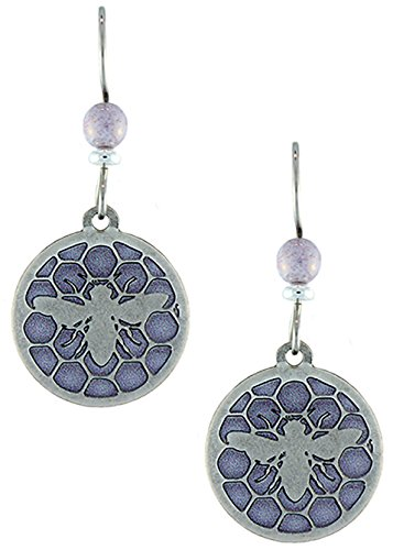 Earth Dreams- Royal Jelly Earrings with Beads (Silver/Purple with Beads)