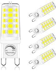 ONSTUY G9 Ledlamp Dimbaar,4W G9 LED Lamp Vervangt 40W Halogeenlamp,400Lumen,AC 220-240V,Geen Flikkering,360 °Stralingshoek,Pak van 5