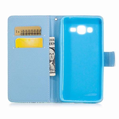 Yiizy Samsung Galaxy J2 Prime / G532M / G532F / G532G Custodia Cover, Stile Europeo Design Sottile Flip Portafoglio PU Pelle Cuoio Copertura Shell Case Slot Schede Cavalletto Stile Libro Bumper Protet