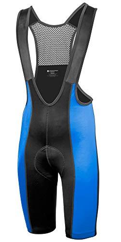 AERO|TECH|DESIGNS Big Men's Top Shelf Chamois Padded Cycling Bib Shorts Royal 3XL
