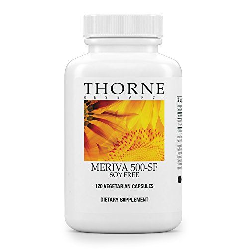 Thorne Research – Meriva 500-SF (Soy Free) – Curcumin Phytosome Supplement – 120 Capsules