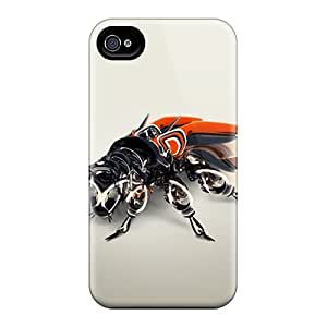 New Cute Funny Mechanical Bug Case Cover/ Iphone 4/4s Case Cover