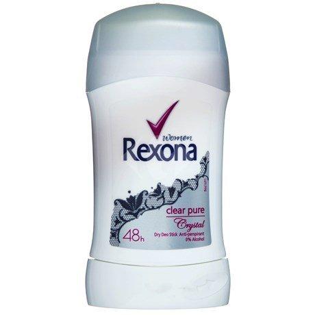 Rexona Crystal - Rexona Women Clear Pure Crystal Dry Deo Stick Anti-Perspirant 48h 40 ml / 1.3 oz