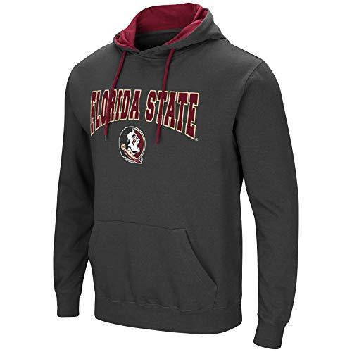 (Colosseum Men's NCAA-Scoreboard-Dual Blend-Fleece Hoodie Pullover Sweatshirt-Charcoal-Florida State Seminoles-XL)