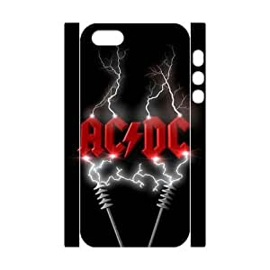 HQYDIY Customised ACDC 3D Plastic Case, Personalised ACDC Hard 3D Cell Phone Case for Iphone 5,5s