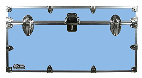 College Dorm Room & Summer Camp Lockable Trunk Footlocker with Wheels - Undergrad Trunk by C&N Footlockers - Available in 20 colors - Large: 32 x 18 x 16.5 Inches by C&N Footlockers (Image #3)