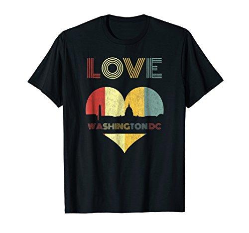 - I Love Washington DC City T-Shirt Capital Retro Vintage 70s