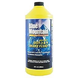 Blue Mountain DOT 3 & 4 Brake Fluid (32 oz)