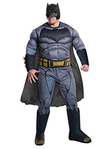 Rubie's Men's Batman v Superman: Dawn of Justice Deluxe Batman Plus Size Costume, Black, One (Xxl Superman Costume)