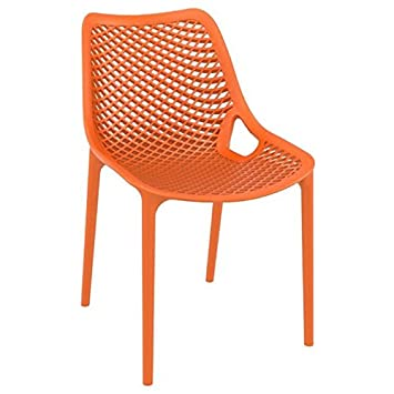 Compamia Air Outdoor Patio Dining Chair in Orange, Commercial Grade