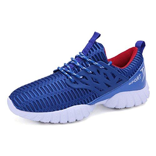 Hombres Respirable Zapatos deportivos Formación Excursionismo Zapatos de viaje Zapatos para correr Entrenadores Blue