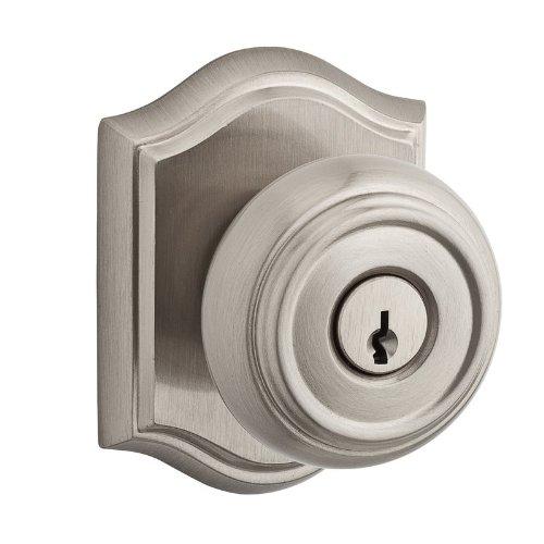 (Baldwin EN.TRA.TAR Traditional Keyed Entry Single Cylinder Knobset with Traditio, Satin Nickel)