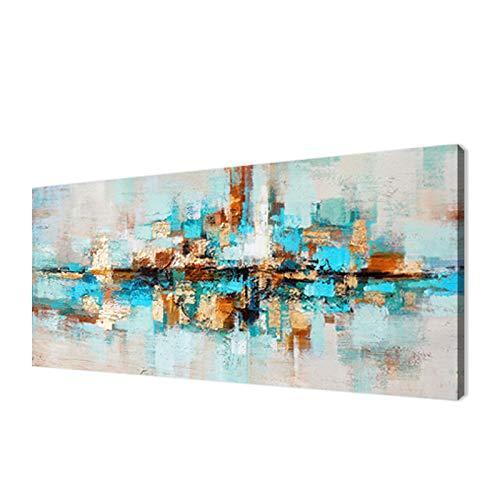 Moderna Sobre Carteles Cuadro En Lienzo,Pintura Azul Marino Imagenes Abstracta Impresiones De La Lona Arte De La Pared Para La Decoracion De La Sala De Estar- (Sin Marco)(60x180cm)