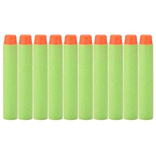 Ronghe 7.2cm Foam Darts for Nerf N-strike Elite Series 100 Pcs- Dark Green