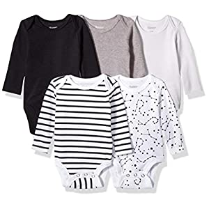 Best Epic Trends 41QKR9UCiNL._SS300_ Hanes Ultimate Baby Flexy 5 Pack Long Sleeve Bodysuits
