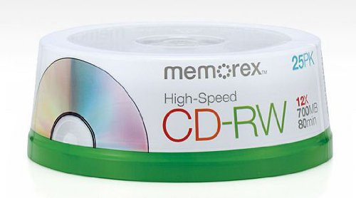 Memorex 80 Minute CD-RW 4x-12x High Speed 25 Pack Spindle