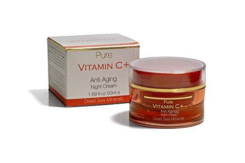 Pure Vitamin C  Antiaging Night Cream  50 Ml  All Skin Types    Dead Sea Minerals By Spa Cosmetics Ltd  Made In Israel