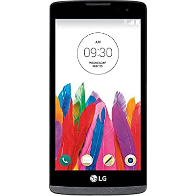LG Leon MS345 4G LTE GSM Unlocked Android Smartphone - Black - (Certified Refurbished)