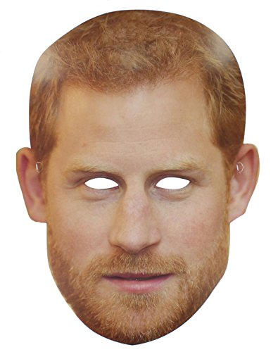 Prince Harry Royal Wedding Celebrity Card Face Mask Street Party (Celebrities Costumes)