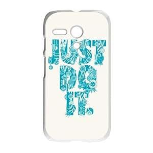 Durable Phone Case Motorola Moto G Cell Phone Case White Vsrgz Just Do It Plastic Durable Cover