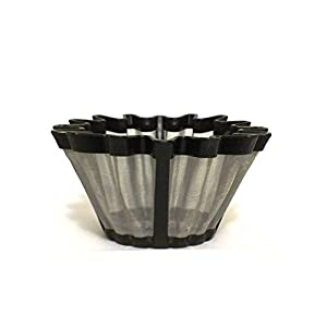 Universal Gold Tone Coffee Filter- The #1 Permanent Coffee Filter. (6-12 Cup)