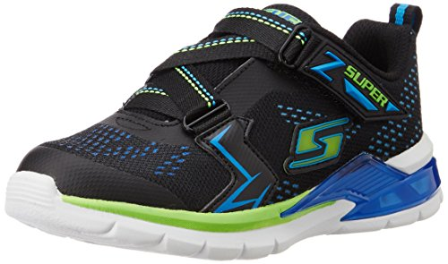 Skechers Kids Erupters II Light Up Sneaker (Only slightly Kid), Black/Blue/Lime, 2 M US Little Kid