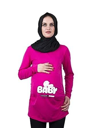 Ommy3 Black Maternity Tops