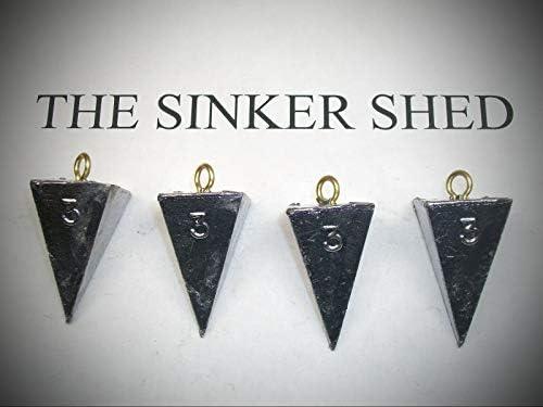 3オンス ピラミッドシンカー 12個の釣りウェイトセット シンカー用品 道具