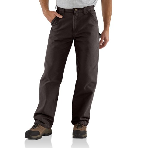 Carhartt Men's Washed Duck Work Dungaree Utility Pant B11,Dark Brown,36 x 30 by Carhartt