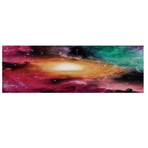 Science Room Decor Microwave Oven Cover,Colorful Astronomy Pictures of A Spiral Galaxy Stars and Stardust Cover for Kitchen,36