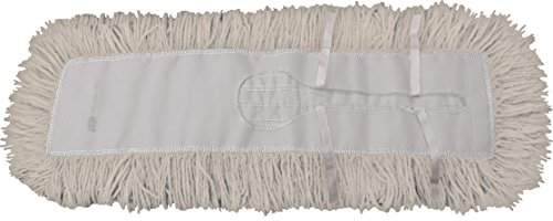 Dust Mop Kit 60'' : (1) 60'' White Industrial Closed-Loop Dust Mop, (1) 60'' Wire Dust Mop Frame & (1) Dust Mop Handle Clip-On Style Wood by Direct Mop Sales, Inc. (Image #1)
