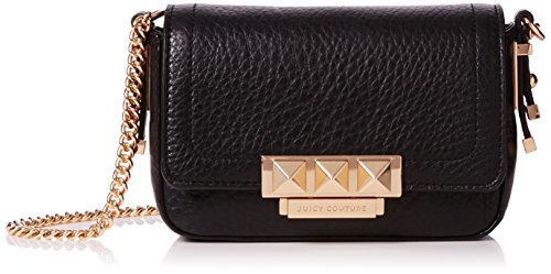Juicy Couture Women's Trousdale Leather Lil J Cross-Body Bag Black (Pitch Black)