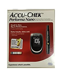 Accu Chek Check Performa Nano Glucose Monitor Sugar Level Kit with Softclix Diabetes Test from Accu Check