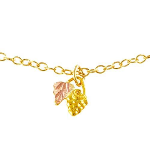 - Black Hills Gold Leaf and Grape Pendant
