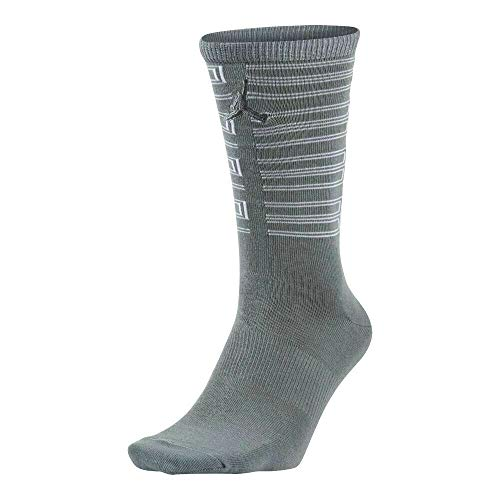 Jordan Men's Retro 11 Basketball Crew Socks Large (9-12) Cool Gray White]()
