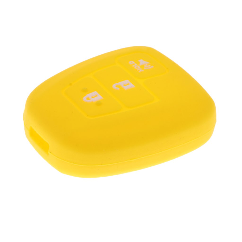 MonkeyJack Car Key Silicone Protective Case Cover for Toyota Prius C Tundra RV-4 Highlander - Stronge Yellow