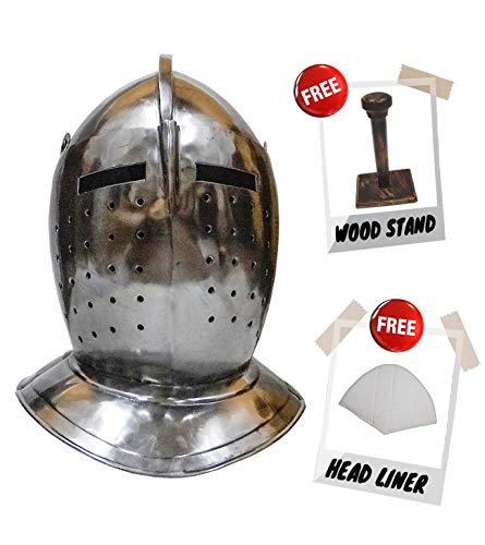 Deco 89 Armor Helmet European Bascinet Golden Knight Helmet ()