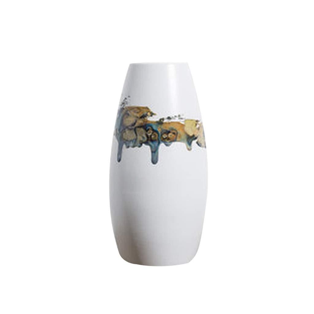 セラミック花瓶装飾リビングルームフラワーアレンジメントドライフラワーモダンミニマリストクリエイティブ装飾家具 LQX B07R3QR335