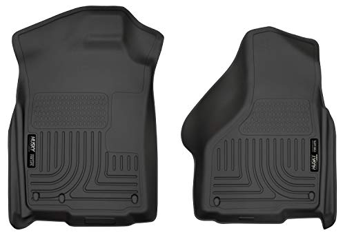 Husky Liners Black Weatherbeater Front Floor Liners Fits 2002-18 Ram 1500 Quad/Standard Cab, 2019 Ram Classic 1500 Quad/Standard Cab (2008 Dodge Ram 1500 Quad Cab Interior)