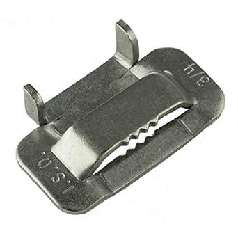 Amazon.com: ISO bu456 tipo hebillas de acero inoxidable 316 ...