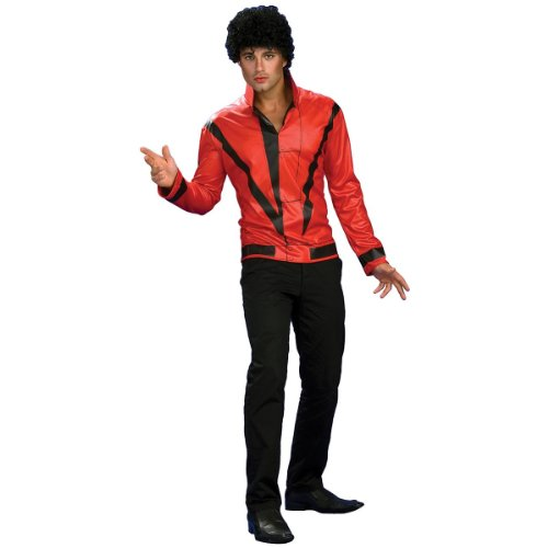 Michael Jackson Adult Costume Red & Black Thriller Jacket - (Black Or White Costume Michael Jackson)